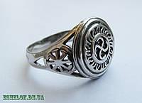 Кольцо серебряное Оберег Символ Рода и Коловрат 302 46