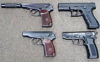 """Пистолеты под Флобера КЛОН, ПМФ-1 и ПТФ-1. Сравнительный обзор, стрельба по """"хрону"""", по мишени."""