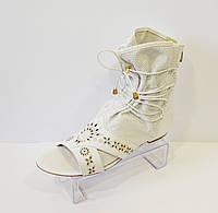 Босоножки женские белые Pepol 4330