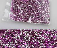 Стразы розовые 1,5 мм. 10000 шт. для дизайна ногтей, декора ...