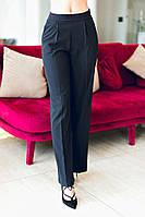 Офисные женские брюки свободного фасона с завышенной талией тиар