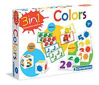 Гра настільна Clementoni кольори 3в1