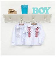 Рубашка-вышиванка для мальчиков ТМ Фламинго, интерлок (артикул 799-204)