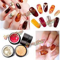4 цвета янтаря УФ-гель лак для ногтей арт дизайн покраска цвет градацию рисунок полупрозрачный маникюр