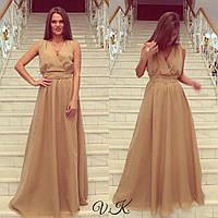 Вечернее  шифоновое платье макси
