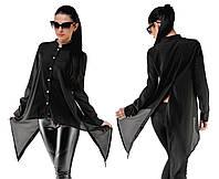 Женская ассиметричная блузка- туника