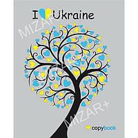 Тетрадь 60_листов клетка, на спирали, без полей/ Ukraine