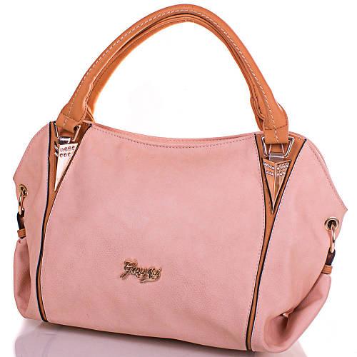 Бежевая женская сумка из качественного кожезаменителя GUSSACI (ГУССАЧИ) TUGUS13E044-4-13