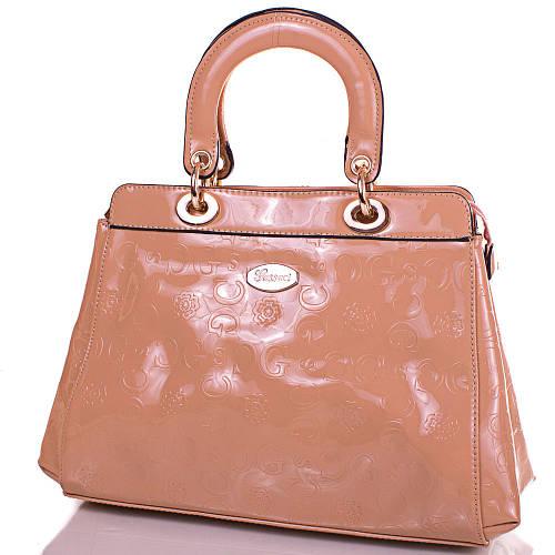 Женская стильная сумка из качественного кожезаменителя GUSSACI (ГУССАЧИ) TUGUS13A051-1-10 (бежевый)
