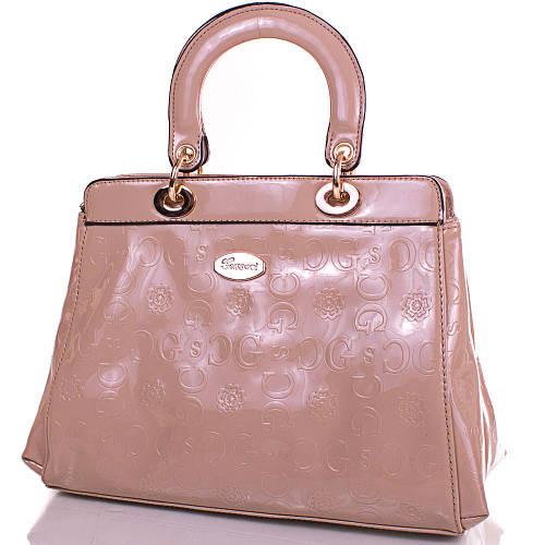 Женская изящная сумка из качественного кожезаменителя GUSSACI (ГУССАЧИ) TUGUS13A051-1-12 (бежевый)