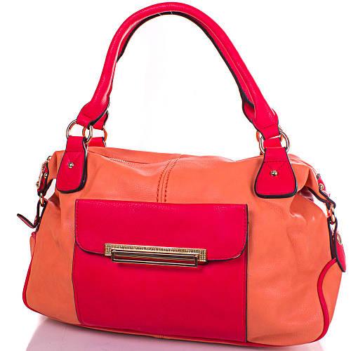 Женская оранжевая сумка из кожезаменителя GUSSACI (ГУССАЧИ) TUGUS13K063-2-8