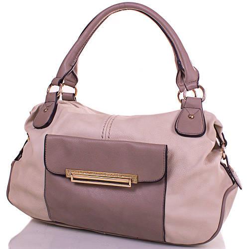 Лаконичная женская сумка из кожезаменителя GUSSACI (ГУССАЧИ) TUGUS13K063-2-9  (серый)
