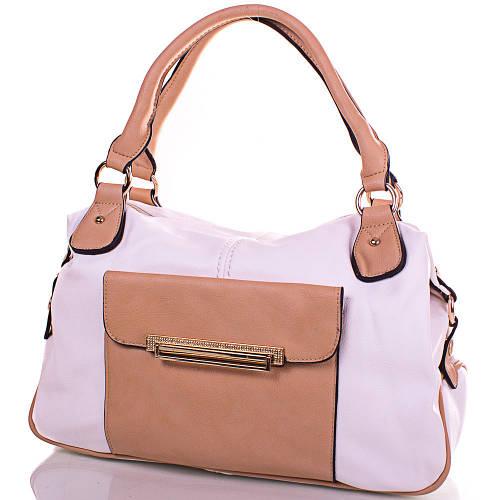 Престижная женская сумка из кожезаменителя GUSSACI (ГУССАЧИ) TUGUS13K063-2-11  (белый)