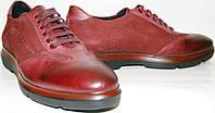 Спортивные туфли мужские Luciano Bellini 12906 Sport красные на шнурках, весна осень, кожа/нубук.