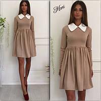 Платье с белым воротником и пышной юбкой разные цвета 2SMmil597