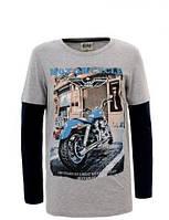 """Модные подростковые регланы для мальчиков с принтом """"Bike"""" 134-164р. Glo-story"""