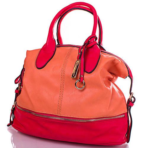 Практичная женская сумка из кожезаменителя GUSSACI (ГУССАЧИ) TUGUS13D044-3-8 (оранжевый)