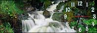 Водопад часы настенные 30*90 см фотопечать
