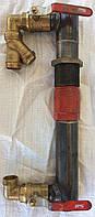 Байпас 40 мм короткий с чугунным клапаном