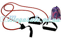 Эспандер трубчатый с креплением на дверь: ручки неопрен, нагрузка 4,5кг
