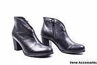Ботильоны женские кожаные Wasak (ботинки удобные, Польша, байка по 41р)