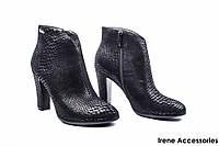 Ботильоны женские нубук Angelo Vani (ботинки стильные, рептилия, байка с 35р)