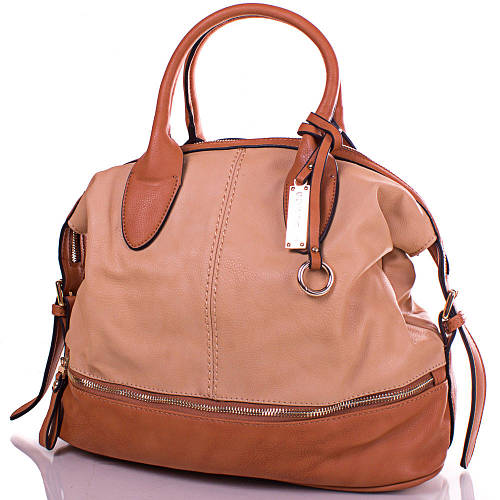 Удивительная женская сумка из кожезаменителя GUSSACI (ГУССАЧИ) TUGUS13D044-3-12 (бежевый)