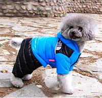 Комбинезон на пуху для собаки синий