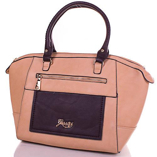 Изумительная женская сумка из кожезаменителя GUSSACI (ГУССАЧИ) TUGUS13E064-1-10  (бежевый)
