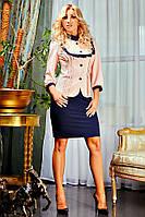 Элегантное платье с модным пидаком