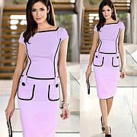 Короткое платье с отделкой и карманами