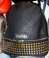 Сумка рюкзак Michael Kors 114277 с шипами женский цвета черный, синий, серый два отделения искусственная кожа
