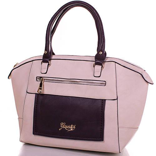 Очаровательная женская сумка из кожезаменителя GUSSACI (ГУССАЧИ) TUGUS13E064-1-12 (бежевый)