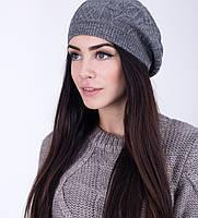 Модный женский легкий берет серого цвета