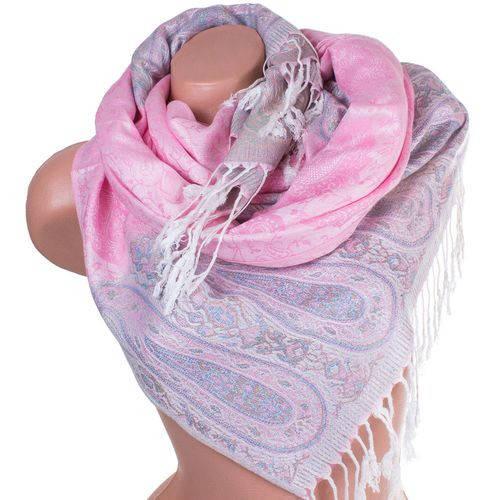 Необыкновенный женский двусторонний палантин из пашмины 173 на 70 см ETERNO ES0206-2-3 розовый