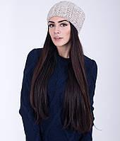Красивая женская шапка с вертикальным узором