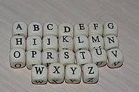 Бусины буквы деревянные от А до Z 10 мм