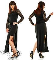 Платье длинное с разрезами. 273 Батал 48, 50, 52, 54