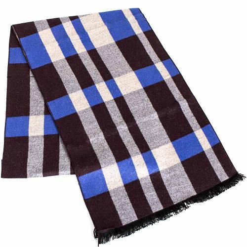 Теплый мужской шерстяной двухсторонний шарф 178 на 30 см ETERNO (ЭТЕРНО) ES2107-11 разноцветный