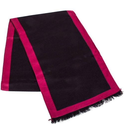 Мужской шерстяной двухсторонний шарф 180 на 31 см ETERNO (ЭТЕРНО) ES2307-7 черный