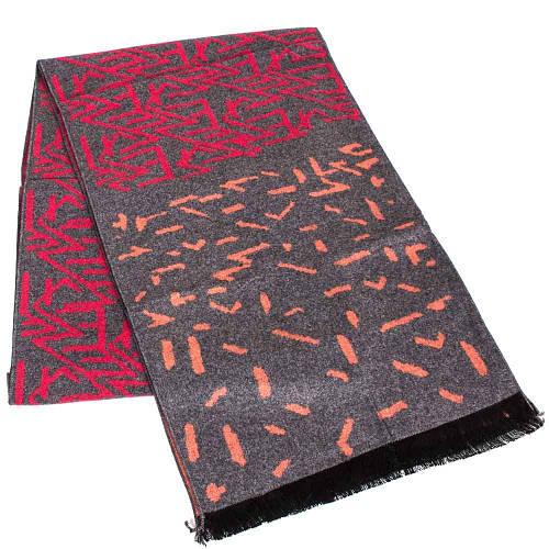 Необычный мужской шерстяной двухсторонний шарф 182 на 30 см ETERNO (ЭТЕРНО) ES2107-4 серый