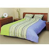 Комплект постельного белья Теп Линия сине-зеленая двуспальный
