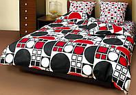 Комплект постельного белья Теп Круги черно-красные двуспальный