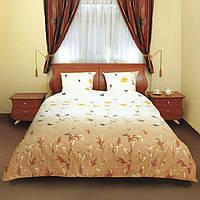 Комплект постельного белья Теп Маки коричневые с бабочками двуспальный