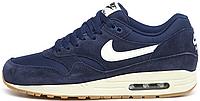 Мужские кроссовки Nike Air Max 1 Essential (найк аир макс) синие