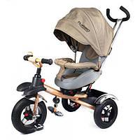 Детский трехколесный велосипед от 1 года Turbo Trike M 3193-1А (Бежевый)