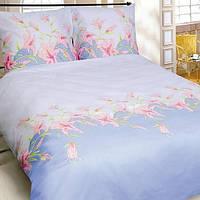 Комплект постельного белья Теп Лилия голубая двуспальный