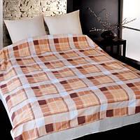 Комплект постельного белья Теп Шотландка коричневая двуспальный