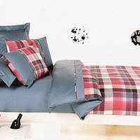Комплект постельного белья Теп Шотландка красная двуспальный