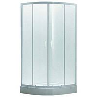 Душевая кабина 90*90*200 см, на мелком поддоне, профиль белый, стекло EGER TISZA Zuzmara (599-021)